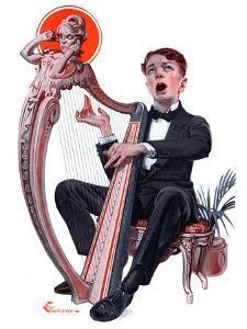 """Offkey Harpist,""April 4, 1925 by Elbert Mcgran Jackson"