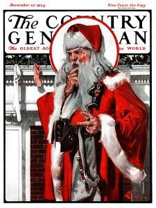 """""""What to Put in That Tiny Stocking?,"""" Country Gentleman Cover, December 27, 1924 by Elbert Mcgran Jackson"""