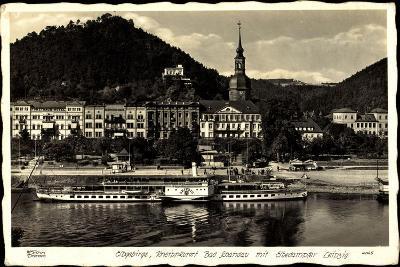 Elbgebirge, Bad Schandau, Dampfer Leipzig, Hahn 4065--Giclee Print