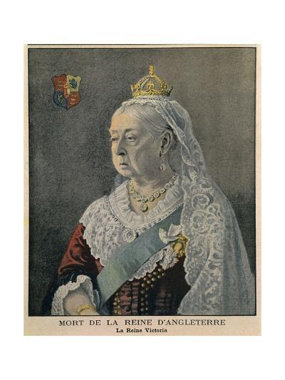 Elderly British Queen Victoria. French Engraving Published on Her Death on Feb. 3, 1901--Giclee Print