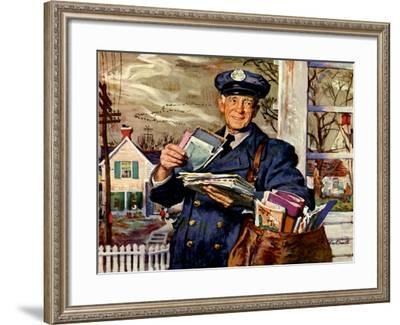 Elderly Mailman, 1956--Framed Giclee Print