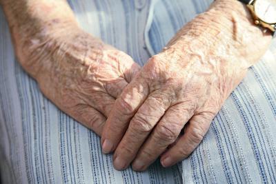 Elderly Woman's Hands-Victor De Schwanberg-Photographic Print