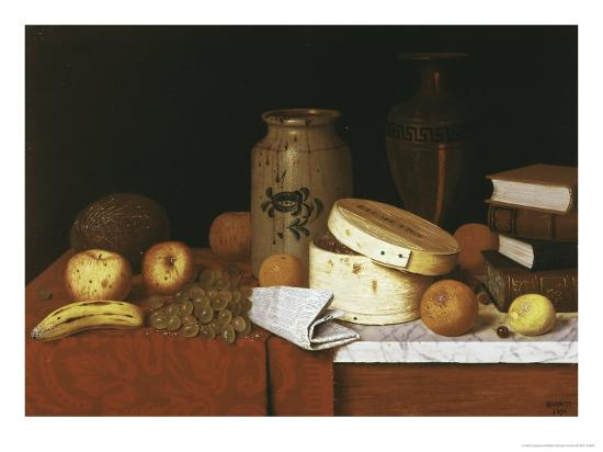 Eleame Figs and Newspaper-William Michael Harnett-Giclee Print
