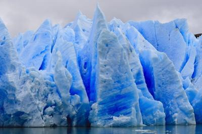 Blue Ice, Grey Glacier, Torres Del Paine National Park, Patagonia, Chile, South America by Eleanor