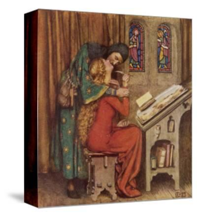 Abelard and Heloise French Scholar and Nun Embracing in the Scriptorium