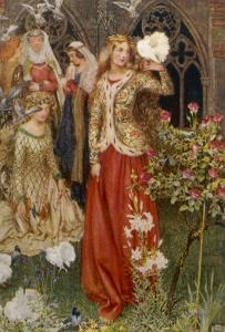 Guinevere and Her Ladies-In- Waiting in the Golden Days by Eleanor Fortescue Brickdale