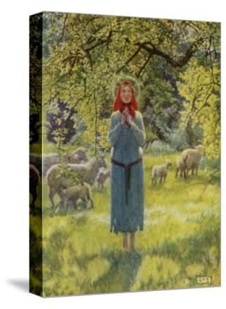 """Jeanne D'Arc Hearing Her """"Voices"""" While Minding Her Sheep at Domremy"""