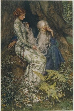 Merlin is Spellbound by His Lover Nimue