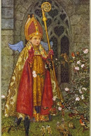 Saint Valentine Depicted Here as Boy Bishop