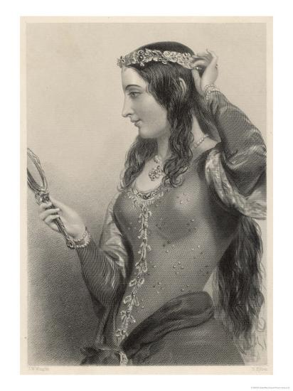 Eleanor of Provence Queen of Henry III and Mother of Edward I of England-B. Eyles-Giclee Print