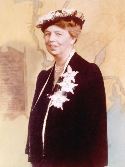 Eleanor Roosevelt, Hand Colored Photograph Circa 1936--Photo