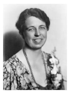 Eleanor Roosevelt in July 1933, in the Early Days of the Franklin Roosevelt Presidency