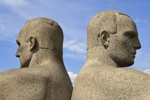 Back to Back, Detail of a Sculptural Group on the Monolith Plateau by Gustav Vigeland, Frogner Park by Eleanor Scriven