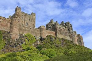 Bamburgh Cast in Summer, from Below, Northumberland, England, United Kingdom by Eleanor Scriven