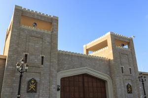 Battlements and Huge Teak Gates of Al-Husn, Southern Oman by Eleanor Scriven