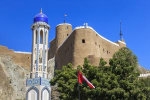 Blue Domed Mosque Minaret, Oman by Eleanor Scriven