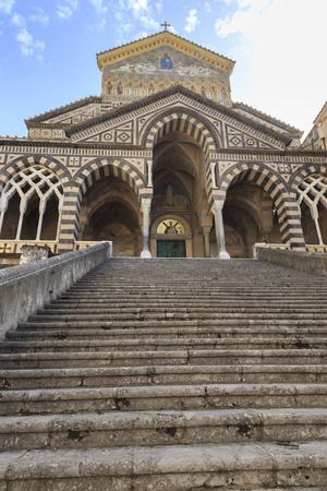 Cathedral and Steps with No People, Amalfi, Costiera Amalfitana (Amalfi Coast), Campania, Italy