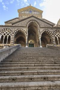 Cathedral and Steps with No People, Amalfi, Costiera Amalfitana (Amalfi Coast), Campania, Italy by Eleanor Scriven