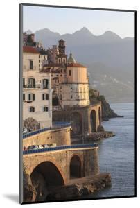 Church of Santa Maria Maddalena and Coast Road with Mountains by Eleanor Scriven