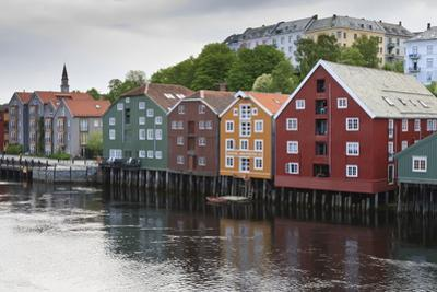 Colourful Wooden Warehouses on Wharf Beside the Nidelva River by Eleanor Scriven