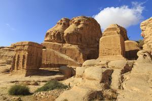 Djinn Blocks, Bab As-Siq (Entrance to the Siq), Petra, Jordan, Middle East by Eleanor Scriven