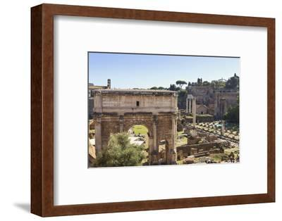 Elevated View from Behind the Capitol of the Arch of Septimius Severus in the Forum, Rome, Lazio