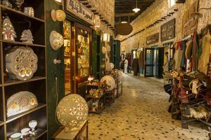 Entrance to Gold Souq, from Alleyway of Souq Waqif, Doha, Qatar, Middle East by Eleanor Scriven