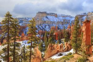Hoodoos Strongly Lit by Early Morning Sun with Heavy Cloud by Eleanor Scriven