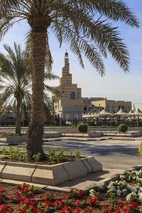 Palm Trees and Flower Beds Along Al-Corniche, Qatar by Eleanor Scriven