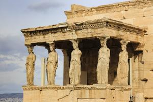 Porch of the Maidens (Caryatids), Erechtheion, Acropolis, UNESCO World Heritage Site, Athens by Eleanor Scriven