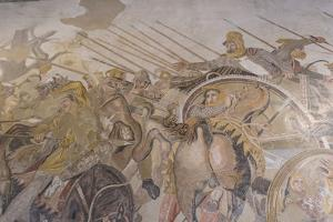 Roman Mosaic, Battle Between Alexander and Darius, from Pompeii House of the Faun by Eleanor Scriven