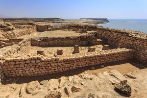 Sumhuram Ruins Overlooking Khor Rori (Rouri), Oman by Eleanor Scriven