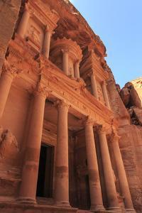 The Treasury (Al-Khazneh), Petra, UNESCO World Heritage Site, Jordan, Middle East by Eleanor Scriven