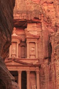 The Treasury (Al-Khazneh), Seen from the Siq, Petra, Jordan, Middle East by Eleanor Scriven
