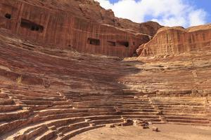 Theatre Carved into the Mountainside, Petra, UNESCO World Heritage Site, Jordan, Middle East by Eleanor Scriven