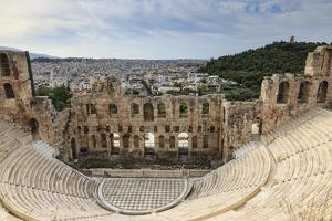 Theatre of Herod Atticus Below the Acropolis with the Hill of Philippapos and City View, Athens by Eleanor Scriven