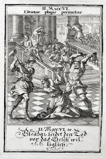 Eleazar Willingly Accepts the Death Penalty, Maccabees 1695-Christoph Weigel-Giclee Print