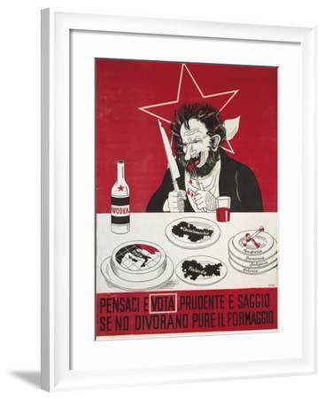 Election Campaign, Anticommunist Propaganda by Titta--Framed Giclee Print