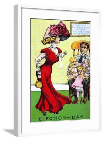 Election Day--Framed Art Print