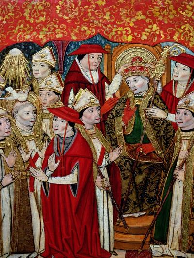 Election of Fabian to the Papacy-Jaume Huguet-Giclee Print