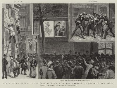 Election of General Boulanger as Member of the Chamber of Deputies for Paris-Paul Destez-Giclee Print