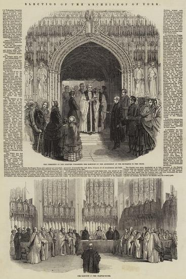 Election of the Archbishop of York--Giclee Print