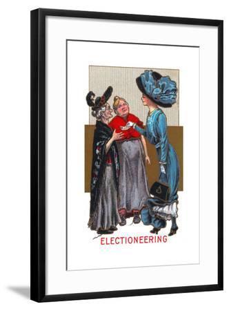 Electioneering--Framed Art Print
