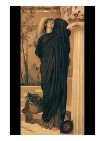 Electra at the Tomb of Agamemnon-Frederick Leighton-Art Print