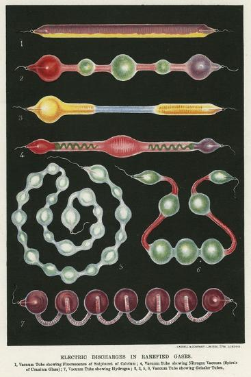 Electric Discharges in Rarefied Gases, 1892--Giclee Print