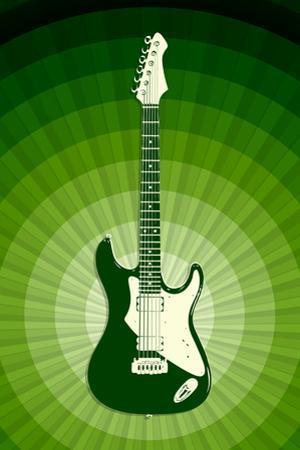 Electric Guitar Green Music
