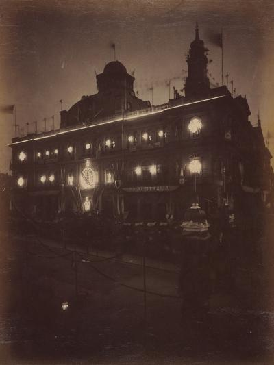 Electric Light Decorations for Federation Celebrations, Sydney, 1901--Photographic Print