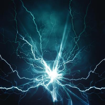 Electric Lighting Effect-dtolokonov-Art Print