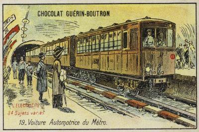 Electric Metro Train--Giclee Print