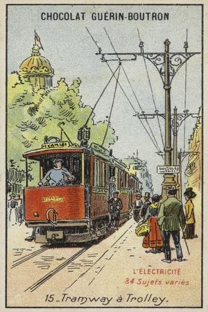 Electric Tram--Giclee Print